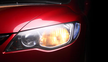 car headlight red black auto body